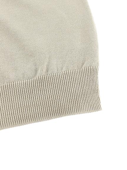 【旧サイズのためアウトレット30%OFF】大人も毛玉になりにくい!さがら刺繍ありさんニット グレージュ