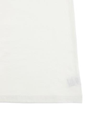 大人もせみさんプリントTシャツ ホワイト オーガニックコットン使用