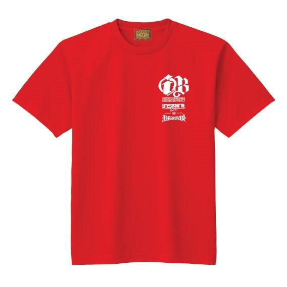 2016プロジェクトDRY Tシャツ/赤