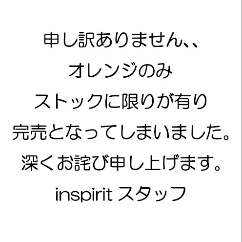 inspirit × MAN WITH A MISSION ロングスリーブDRY Tee/オレンジ