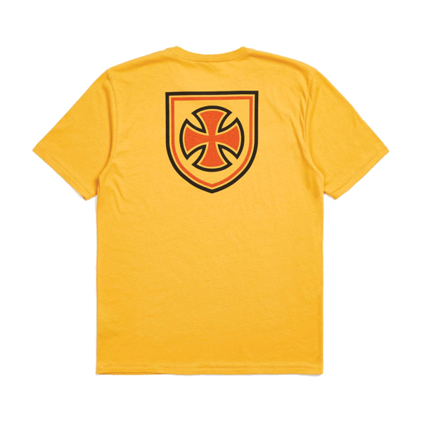 【BRIXTON×INDEPENDENT】 HEDGE S/S Premium Tee  カラー:yellow   ブリクストン ティーシャツ 半袖  スケートボード スケボー SKATEBOARD