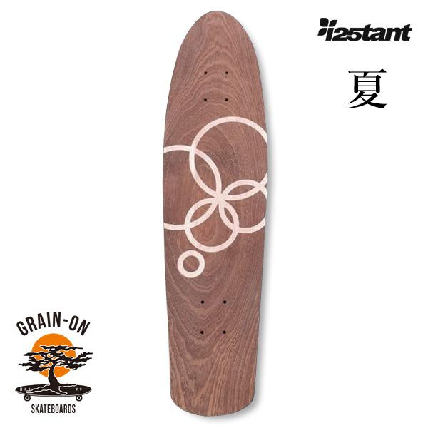 "【GRAIN-ON SKATEBOARDS×instant 】 25th CRUISER BOARD ""夏"" インスタント グレインオンスケートボード スケートボード スケボー デッキ SKATEBOARD"