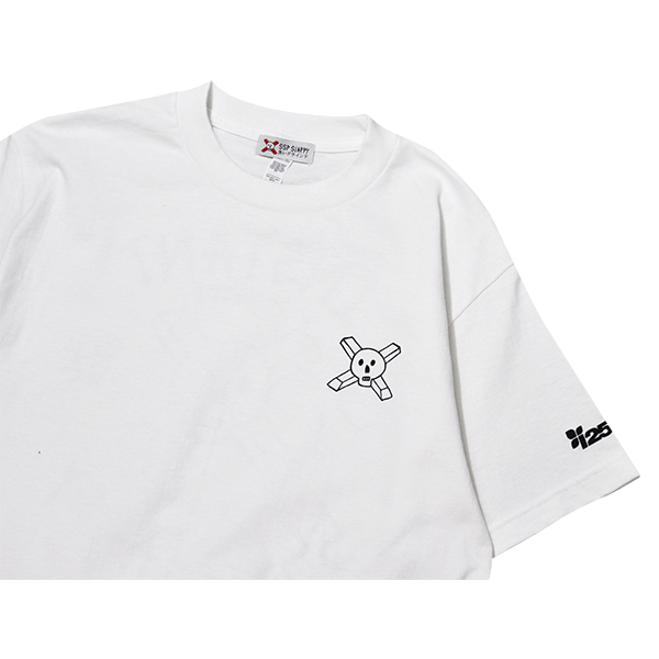 【SSP SLAPPY×instant】 25TH ANNIVERSARY TEE  カラー:white  エスエスピー スラッピー Tシャツ 半袖  スケートボード スケボー SKATEBOARD