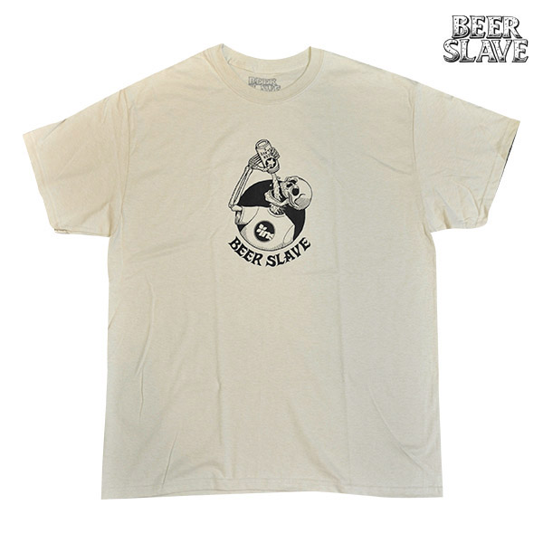 【BEER SLAVE】INSTANT TEE SAND ビアスレイブ Tシャツ スケートボード スケボー SKATEBOARD