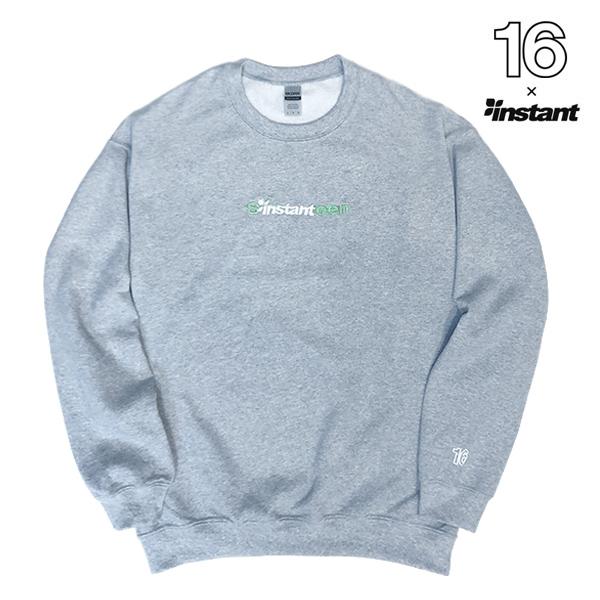 【 16(Sixteen)×instant 】 instant 16 SW Crew インスタント シックスティーン スケートボード スケボー スウェットシャツ SKATEBOARD