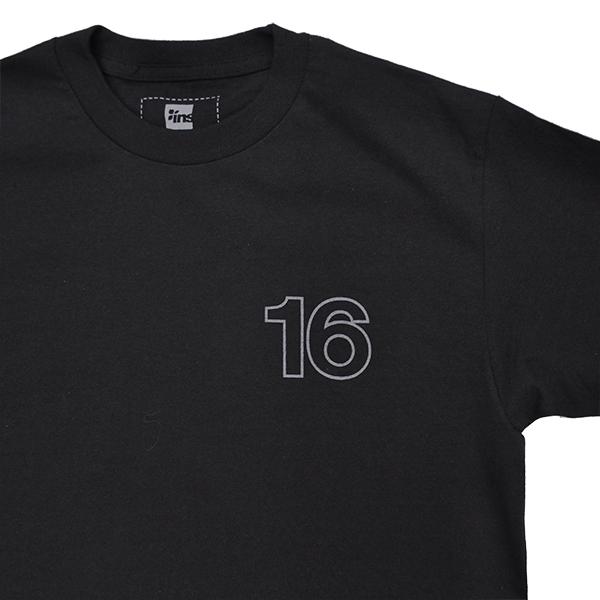 【 16(Sixteen)×instant 】 instant 16 Reflective Logo Tee カラー:black インスタント シックスティーン スケートボード スケボー Tシャツ SKATEBOARD