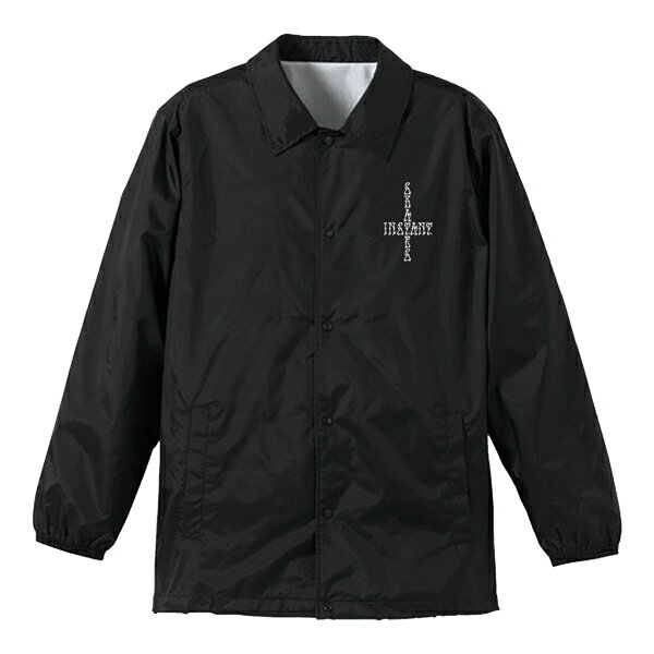【instant】CIRCLE Coach Jacket  カラー:black/white  instant インスタント スケートボード スケボー ジャケット コーチ