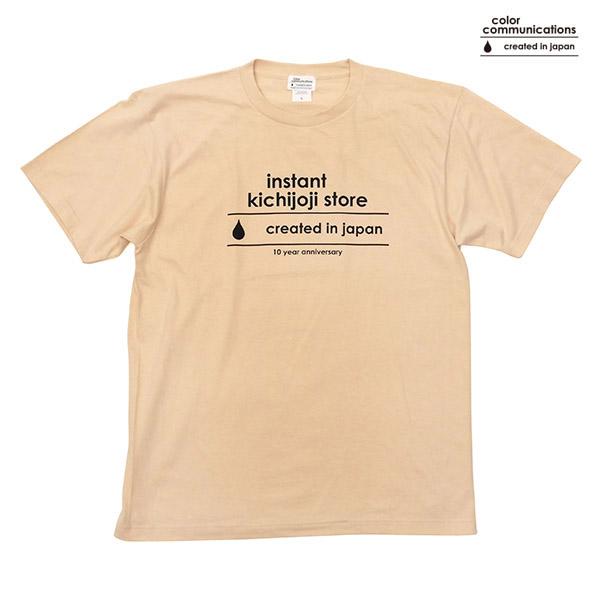 【COLOR COMMUNICATIONS】INSTANT KICHIJOJI STORE 10YEAR ANNIVERSARY T-SHIRTS sand カラーコミュ二ケーションズ Tシャツ スケートボード スケボー SKATEBOARD