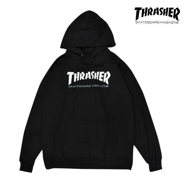 【THRASHER】SKATE MAG HOOD  カラー:black   スラッシャー パーカー プルオーバー  スケートボード スケボー SKATEBOARD