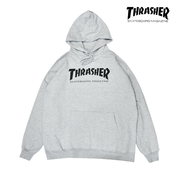 【THRASHER】SKATE MAG HOOD  カラー:grey   スラッシャー パーカー プルオーバー  スケートボード スケボー SKATEBOARD