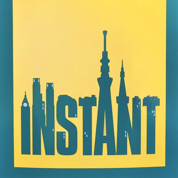 【TRAFFIC SKATEBOARDS × instant】 INSTANT CITY artwork by Hiroki Muraoka 8.125インチ インスタント トラフィック スケートボード スケボー デッキ SKATEBOARD