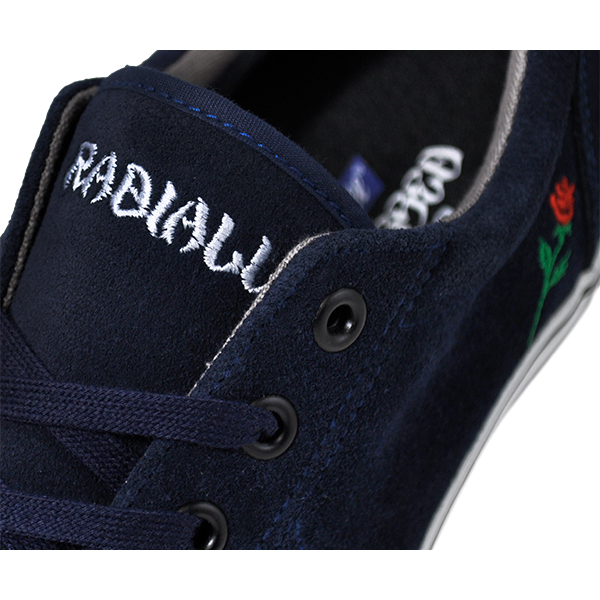 【POSSESSED×RADIALL】<br>CONQUISTA <br>カラー:navy <br><br>ポゼスト ラディアル シューズ 靴 スニーカー <br>スケートボード スケボー <br>SKATEBOARD SHOES