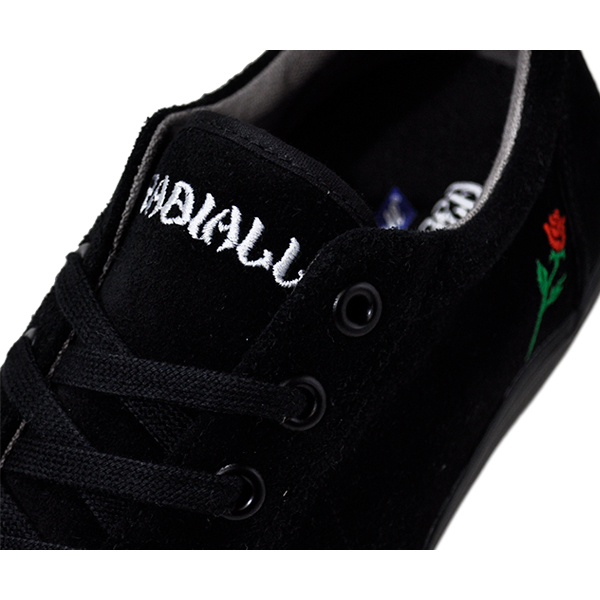 【POSSESSED×RADIALL】<br>CONQUISTA <br>カラー:black <br><br>ポゼスト ラディアル シューズ 靴 スニーカー <br>スケートボード スケボー <br>SKATEBOARD SHOES