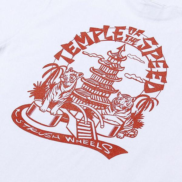 【STRUSH】TEMPLE OF THE SPEED TEE ストラッシュ Tシャツ スケートボード スケボー SKATEBOARD