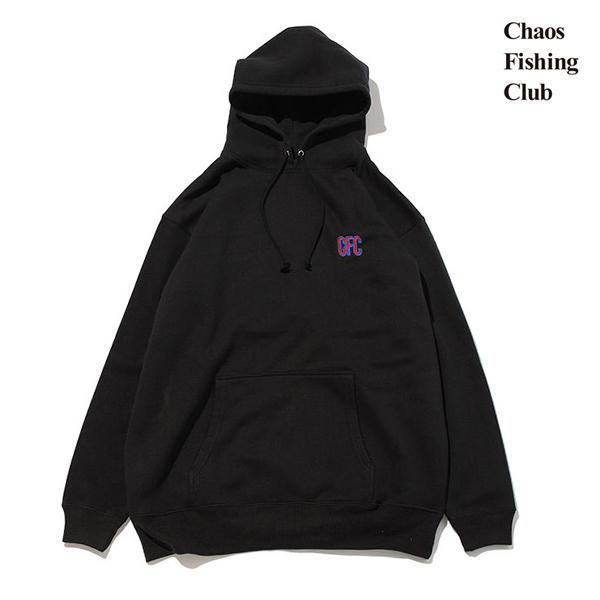 【Chaos Fishing Club】CFC EMB HOODIE カラー:black カオスフィッシングクラブ パーカー フード スケートボード スケボー SKATEBOARD