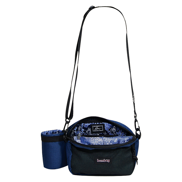 【BUMBAG×LOUIE LOPEZ】 COMPACT XL SHOULDER BAG WITH BOTTLE HOLDER  カラー:navy/forest green   バムバッグ ポーチ バッグ BAG  スケートボード スケボー SKATEBOARD