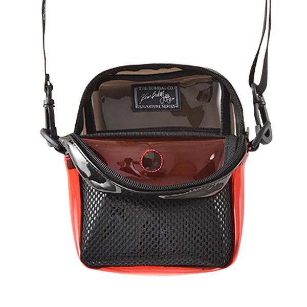 【BUMBAG×KEVIN BRADLEY】 COMPACT SHOULDER BAG  カラー:black/red   バムバッグ ポーチ バッグ BAG  スケートボード スケボー SKATEBOARD