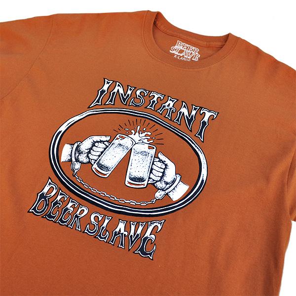【BEER SLAVE×instant】 YUFUCKING DIE L/S TEE texas orange ビアスレイブ インスタント Tシャツ スケートボード スケボー SKATEBOARD