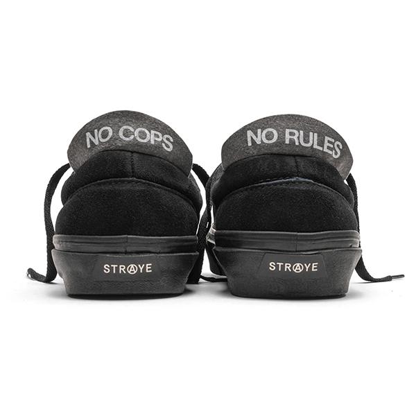 【STRAYE】LOGAN  カラー:black black suede ストレイ ローガン スケートボード スケボー シューズ 靴 スニーカー SKATEBOARD SHOES