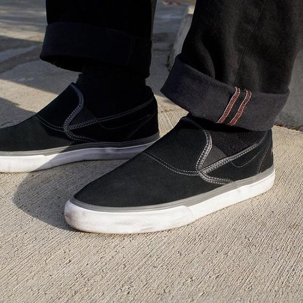 【Emerica】 WINO G6 SLIP-ON  カラー:black/white/gold   エメリカ ワイノ スリッポン  スケートボード スケボー SKATEBOARD  シューズ 靴 スニーカー