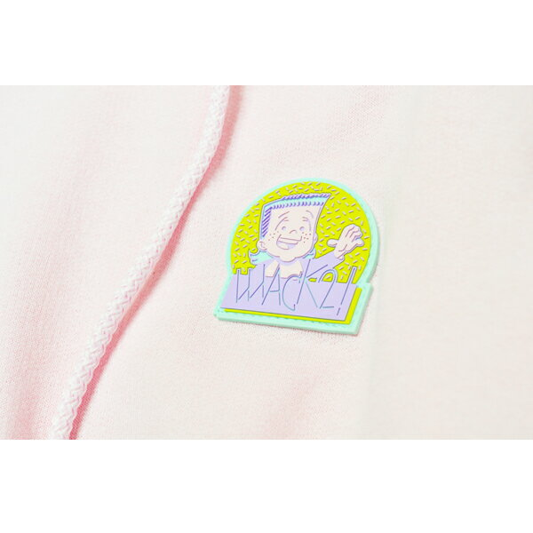 【WACKWACK】MULLET PULLOVER HOODIE  カラー:pink   スケートボード スケボー SKATEBOARD  ワックワック フード パーカー プルオーバー
