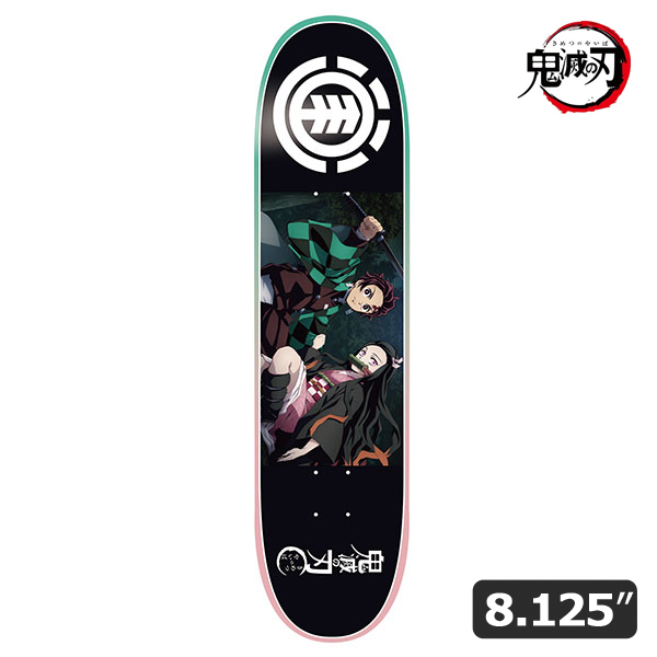 【ELEMENTx鬼滅の刃】TANJIRO NEZUKO DECK 8.125インチ エレメント 炭治郎 禰豆子 スケートボード スケボー デッキ SKATEBOARD DECK