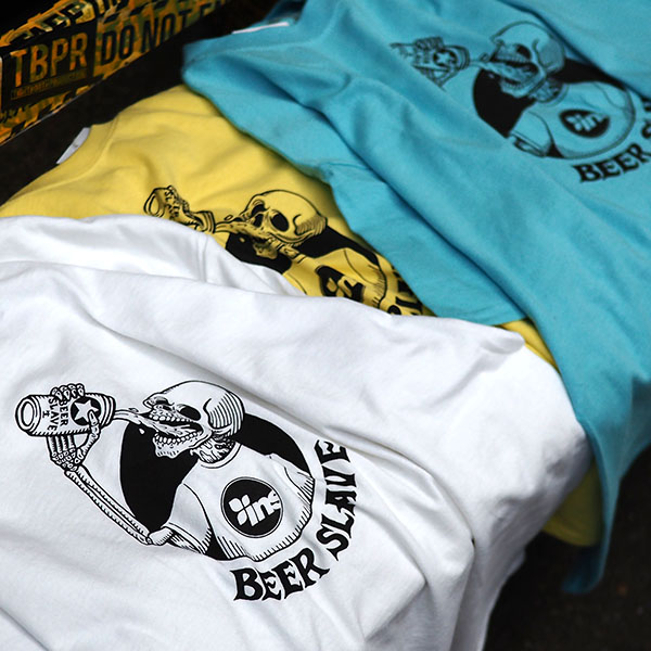 【BEER SLAVE】INSTANT TEE LIGHT YELLOW ビアスレイブ クージー スケートボード スケボー SKATEBOARD