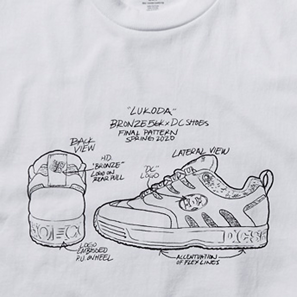 【DC Shoe×BRONZE 56K】 LUKODA 56K SS  <DC Shoe×BRONZE 56K COLLECTION > カラー:WBB0  ディーシー ブロンズ56K Tシャツ 半袖  スケートボード スケボー SKATEBOARD