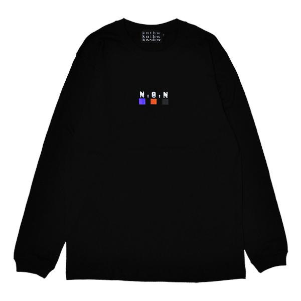 【KNTHW】 NOT A NUMBER LONG SLEEVE  カラー:black   ケント ハードウェア  Tシャツ 長袖 ロングスリーブ  スケートボード スケボー SKATEBOARD