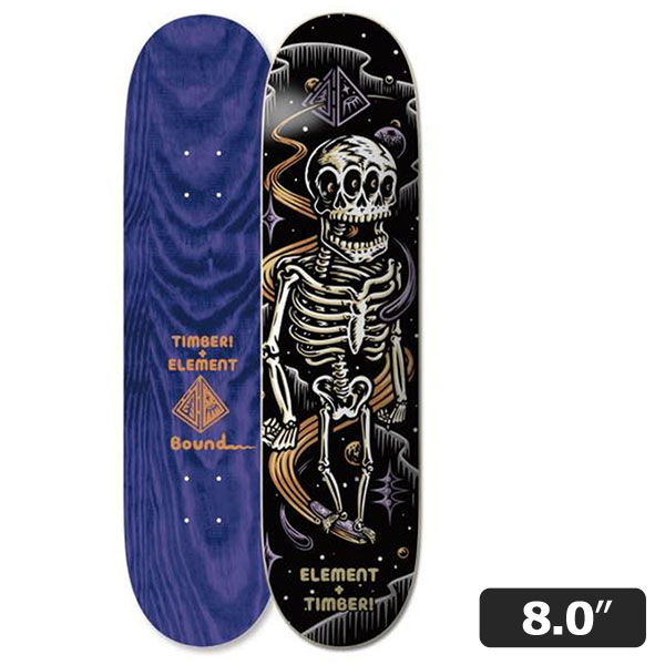 【ELEMENT】TIMBER BOUND SKELETO 8.0インチ エレメント スケートボード スケボー デッキ SKATEBOARD DECK