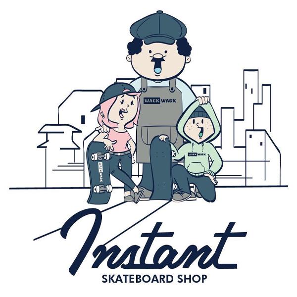 【instant×WACKWACK】 25th MUGCUP カラー:white インスタント ワックワック マグカップ スケートボード スケボー SKATEBOARD