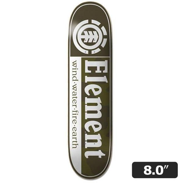 【ELEMENT】CAMO SECTION 8.0インチ エレメント スケートボード スケボー デッキ SKATEBOARD DECK