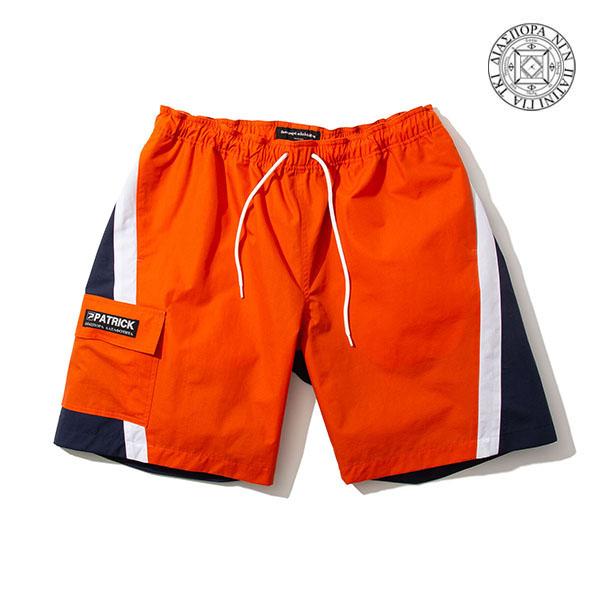【DIASPORA×PATRICK】CLUB SWIM SHORTS orange ディアスポラ パンツ スケートボード スケボー SKATEBOARD
