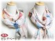 スカーフ シルク100% 大判 ストール マフラー シフォン 【インコ B】 文鳥 野鳥 鳥 bird かわいい 小鳥  絹 天然素材 敏感肌 紫外線防止 UV 防寒 コンパクト パーティー ドレス ショール 【Bサイズ:195×65cm】 送料無料