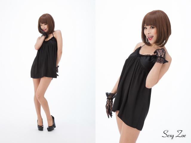 ブラック 黒 シルク100% セクシー キャミソール ランジェリー ベビードール ナイトウェア SexyZoe ISAA004