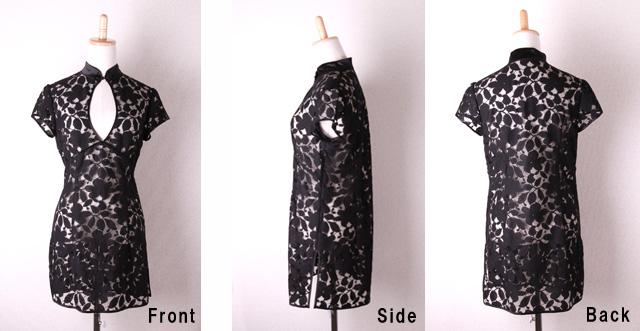 チャイナドレス dress ブラック 黒 シルク100% セクシー キャミソール ランジェリー ナイトウィア SexyZoe ISAA006  送料無料