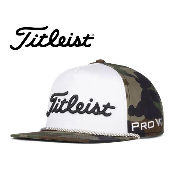 タイトリスト キャップ ウッドランドカモ ツアーロープフラットビルキャップ HJ0CURFWC-OL 2020年モデル 数量限定 日本正規品 TITLEIST メンズ 帽子
