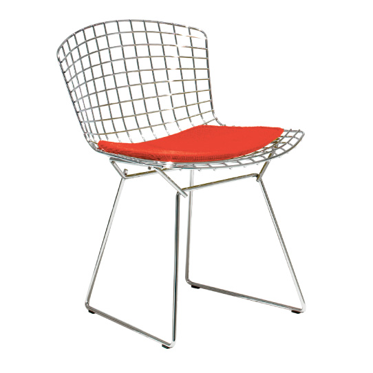 Bertoia Collection Side Chair with Seat Pad