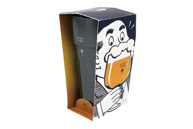 注ぎたての濃厚泡に冷え冷え温度が続く  ビール用超泡メイクタンブラー
