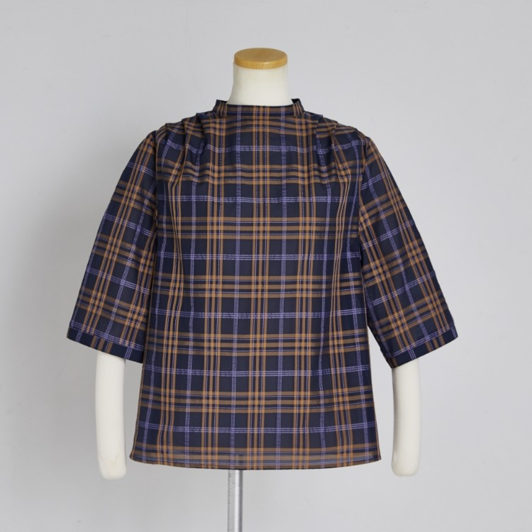 Sheer Check Pull-over