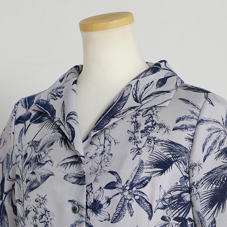 Botanical Open Collar Shirt