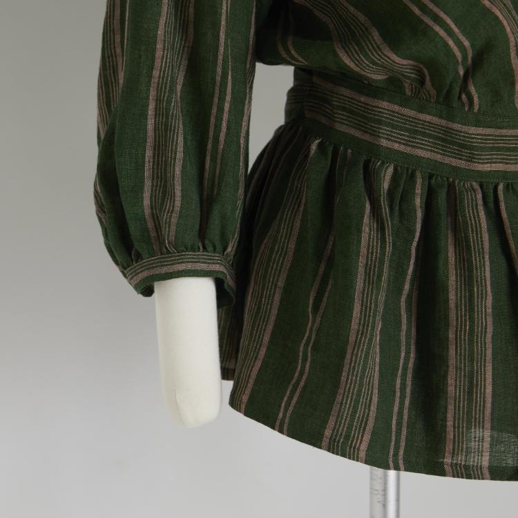 Stripe Linen Cache-coeur