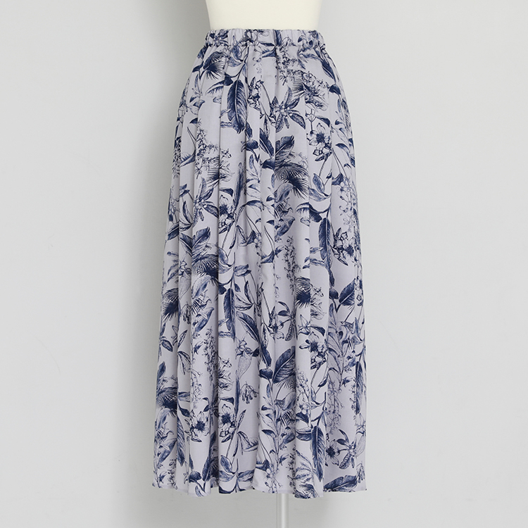 Botanical Tuck Skirt