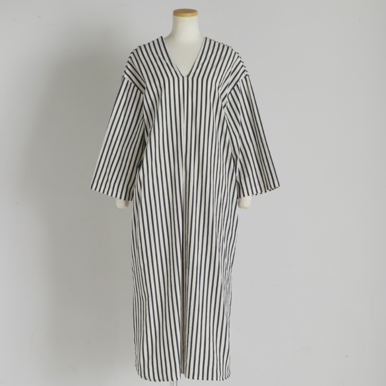 Stripe Box Silhouette One-piece