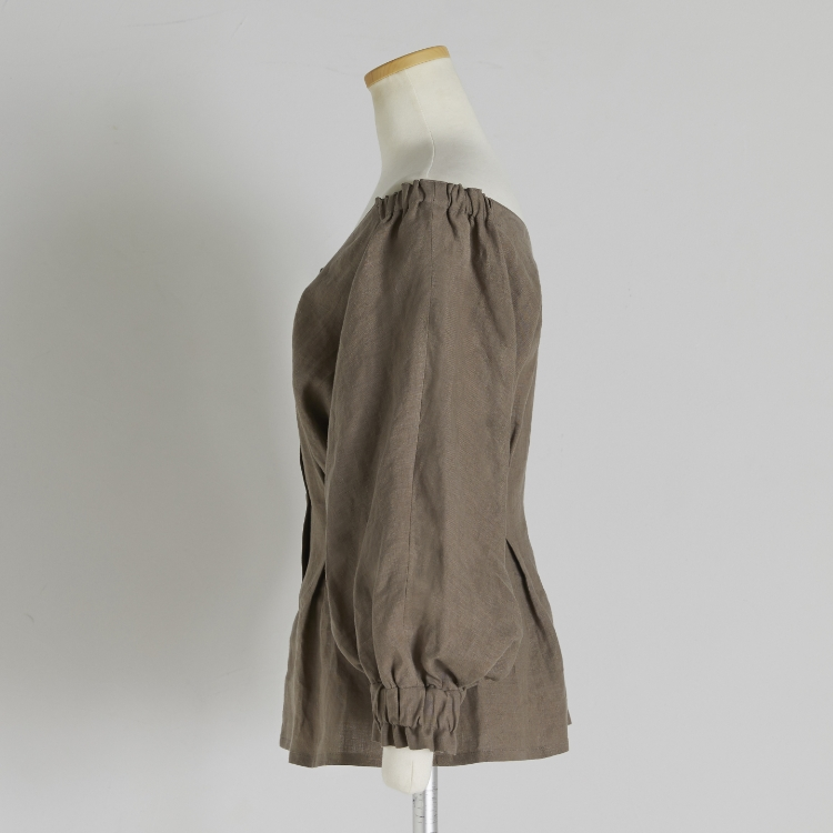 Linen Off Shoulder Tops