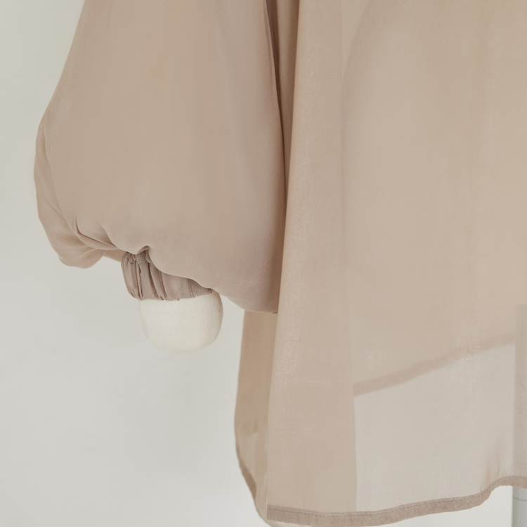 【2021AW NEW】Sheer Gather Pull-over