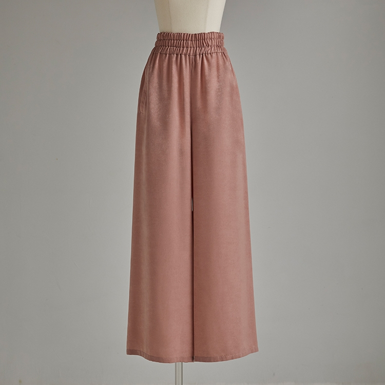Suedy Satin Wide Pants