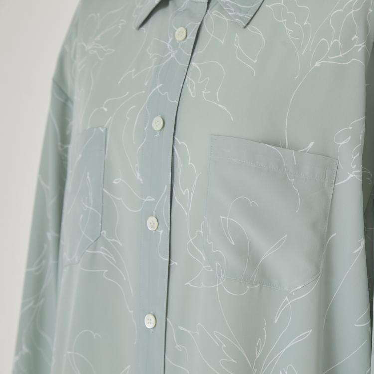 【2021AW NEW】Flower Line Print Shirt