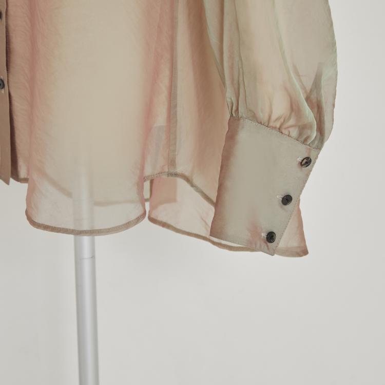 【2021AW NEW】Organdy Dolman Sleeve Shirt