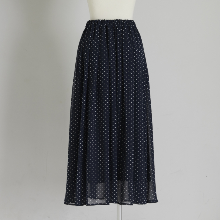 Dot Tuck Skirt